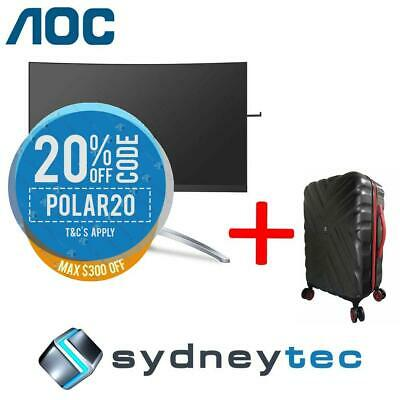 New AOC AGON AG273QCX 27in QHD 1ms 144Hz Curved Gaming Monitor + Travelling Suit