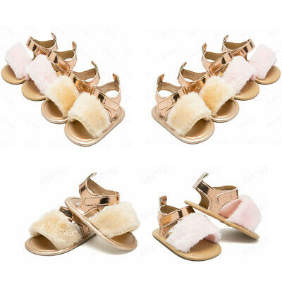 Newborn Infant Baby Boy Girl Crib Prewalker Soft Sole Anti-slip Shoes Sandals US