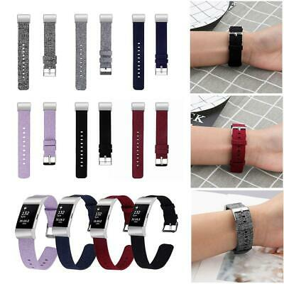 Wristwatch Band For Fitbit Charge 2 Nylon Canvas Woven Fabric Watches Straps