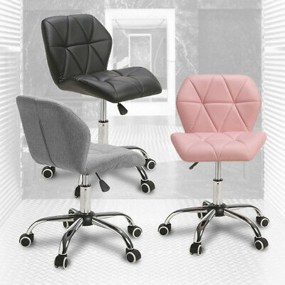 Adjustable 360° Swivel Cushioned Computer Desk Office Chair Chrome Legs Lift