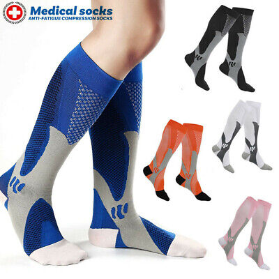 Compression Socks Anti Fatigue Flight Travel Graduated Sleeves Varicose Veins A2