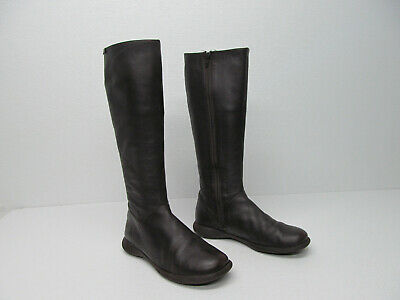 9a62d18df15 CAMPER 45642 SPIRAL BOOT BROWN LEATHER KNEE-HIGH BOOTS size WOMEN S 8.5 39