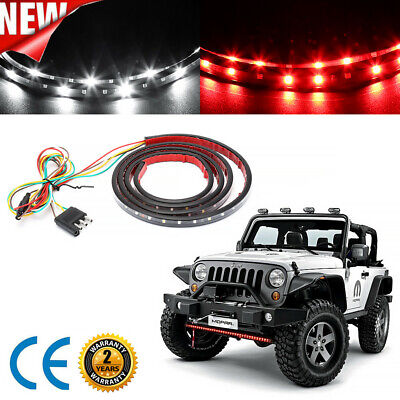 "60"" Led Strip Tailgate Light Bar Reverse Brake Signal For Chevy Ford Dodge Truc"