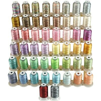 Variegated Polyester Embroidery Machine Thread Kit 500M Each Spool - 50 Colours