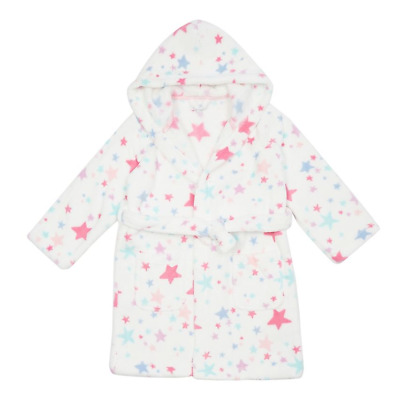 Debenhams Bluezoo White Star Dressing Gown Age 5-6 Years TD182 AA 02