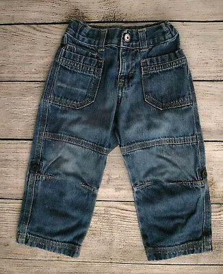 85b27147 Wrangler Jeans 18 Months Baby Toddler Boy Girl Elastic Waist Blue Denim  Pockets