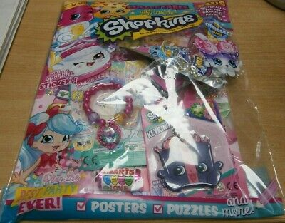 Shopkins magazine comic Issue #53 + Collectable Ring Keyring postcards stickers