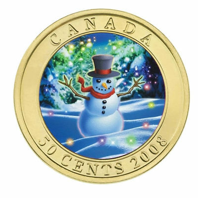 2008 Canada 50 cent Coin - Holiday Snowman