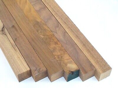 American Black Walnut 43x43mm 1000mm & 800mm long Woodturning Spindles/Squares.