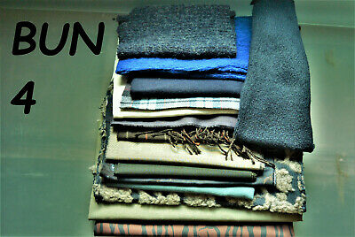 Bundle Fabric 2Kg Made In Italy  Knits-Woven- Blues-Greys-White-Green + Bun 4