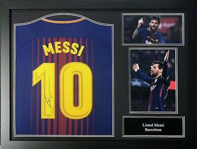 Framed Lionel Messi Signed Barcelona 2018/19 Football Shirt Coa & Proof La Liga