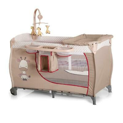 Hauck Baby Centre 120x60cm (Giraffe) with Mobile and Bassinett Level