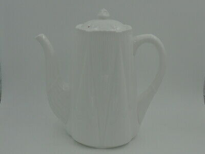 Vintage Shelley Dainty White Coffee Pot Teapot Bone China Excellent Cond! 272101