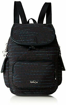 Kipling City Pack S, Mochila para Mujer, Varios Colores (Dotted Lines) 27x33.5x