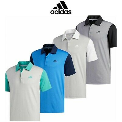 185843f9 adidas 2019 Ultimate 365 Novelty 2.0 Mens Short Sleeve Golf Polo Shirt