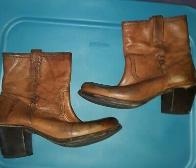 promo code 5b9cd 3505d BED STU SILVER Gazelle Distressed Cowgirl Boots SIZE 7.5 US ...