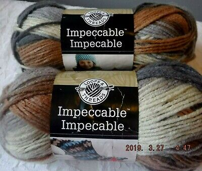 Lot /2  Loops & Threads Impeccable Yarn STILLNESS Ombre 3.5 oz