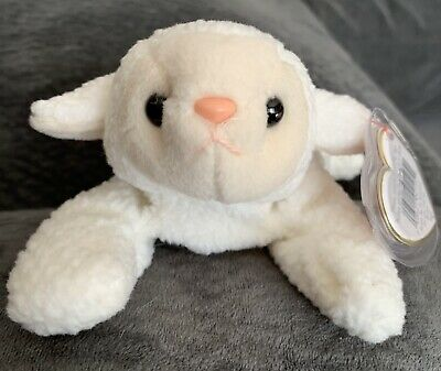 7f9094e1bfe TY FLEECE THE LAMB BEANIE BABY - MINT with MINT TAGS -  1.40