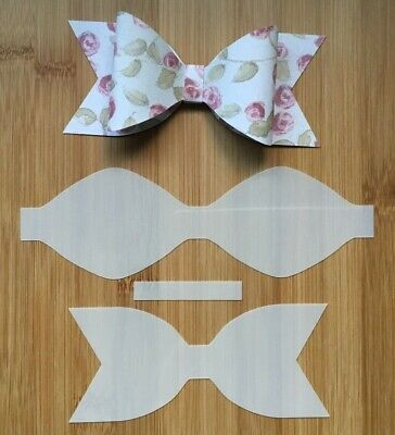 HAIR BOW MAKING Template Stencil 6 pieces Double Bow for