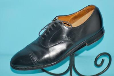 ea49009d54b4a Vtg Brooks Brothers Peal   Co 10.5 D black leather cap toe oxford shoes (a