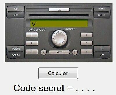 Ford V series Radio code calculator - Install on Unlimited PC