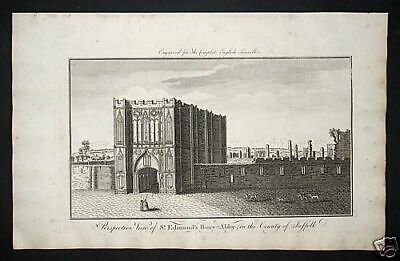 1771 - Bury St. Edmunds Suffolk Church England engraving Kupferstich