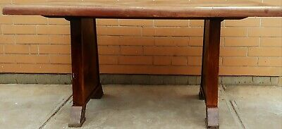 Antique Timber Dining Table Solid Easy Restoration Project 4 Seater Vintage