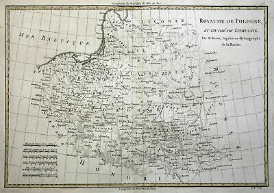 1780 Polen Poland Litauen Lithuania Karte map Kupferstich copper engraving