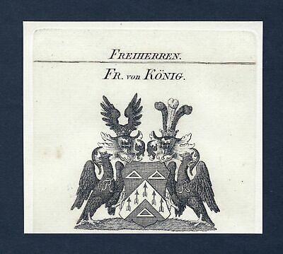 ca.1820 König Koenig Wappen Adel coat of arms Kupferstich antique print h 134530