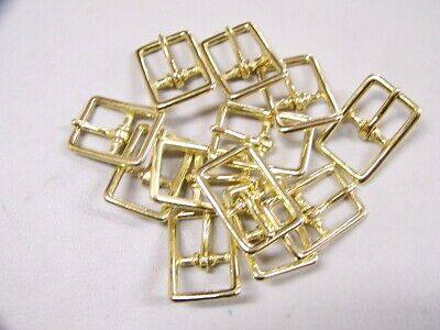 Leather Craft Buckle #121 Solid Brass Buckle Style # 00121-SB-3/4 Qty of 12