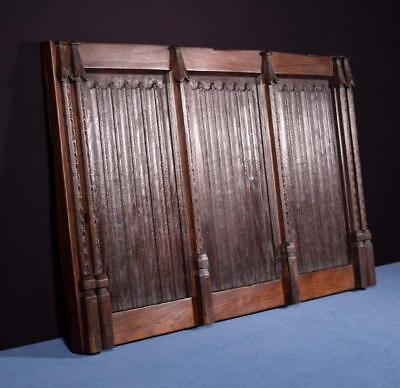*Antique French Gothic Revival Panel in Oak Wood Salvage