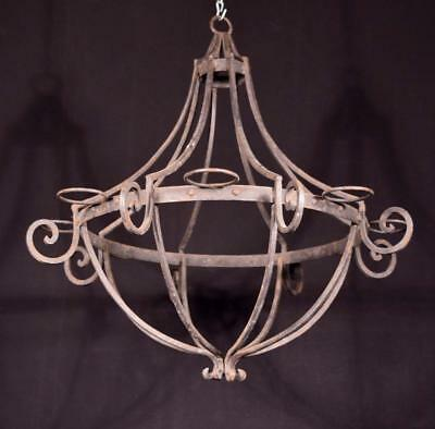 *Vintage French Iron Chandelier/Hanging Lamp