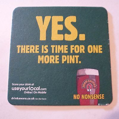 Beer COASTER ~ JOHN SMITH'S No Nonsense Ale Pint ~ It's Not My Turn to Buy More!