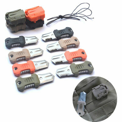 EDC Mini Stainless Steel Molle Webbing Buckle Survival Pocket Knife Outdoor Shiv