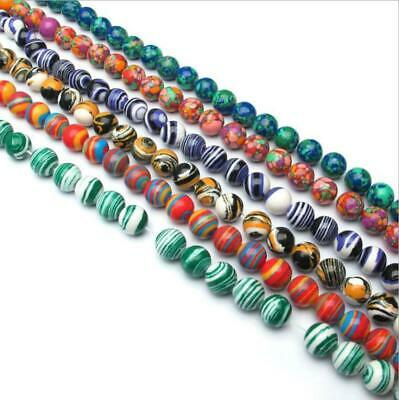 Hot Natural Malachite Gemstone Round Loose Spacer Beads Strand 4/6/8/10/12mm diy