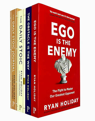 Daily Stoic, Ego is the Enemy, Obstacle is the Way Ryan Holiday 4 Books Set NEW