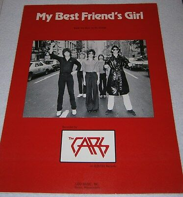 THE CARS ~ MY BEST FRIEND'S GIRL ~ Copyright 1978 ~ VINTAGE Sheet Music