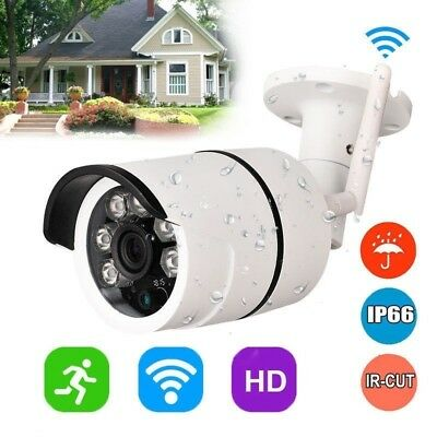 720P Outdoor Wireless WIFI IP Camera SD Slot Network Night Vision CCTV Security