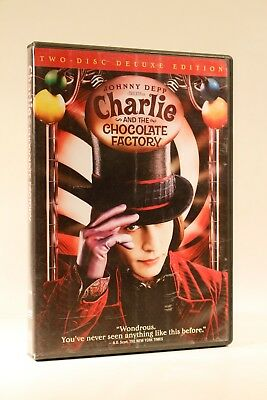 Tim Burton's CHARLIE and the Chocolate Factory (DVD, 2005, 2-Disc) Johnny Depp