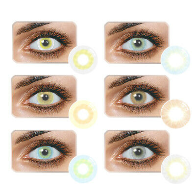 1Pair Yearly Use Colored Contact Lenses Multicolor Cosplay Masquerade Eye Gracio
