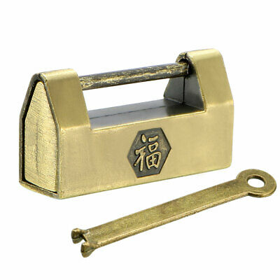 30mm Body Wide Padlock Antique Chinese Old Style Zinc Alloy Brass Plated