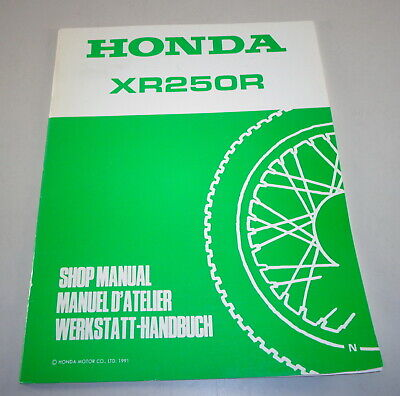 Manuale Officina Supplemento/Officina Manuale Supplement Honda XR 250 R di 1991