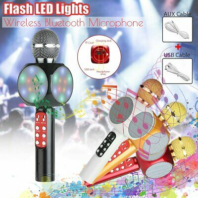 WS 1816 Wireless Karaoke Microphone LED Bluetooth Player Mic Speaker For Phone