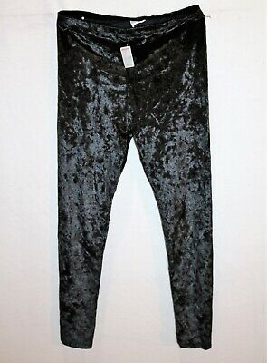 F&F Kids Brand Black Velvet Look Pull On Legging Pants Size 9-10yr BNWT #GIR1