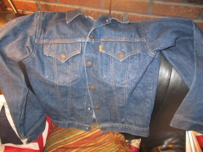 Vintage 80's LEVI STRAUSS Boys Jean Jacket Size 22 Snap Up LEVI'S Made In USA