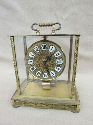 Vintage Kundo 4 Glass Electromagnetic Mantel Clock For Spares Repair