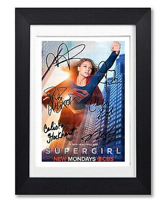 Supergirl Cast Signed Poster Tv Show Season Series Print Photo Autograph Gift