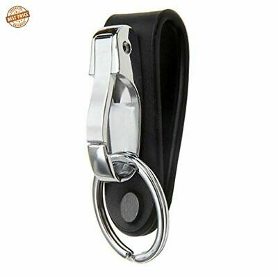 Leather Detachable Belt Buckle Clip Key Chain Keychain Loops Key Ring Holder US