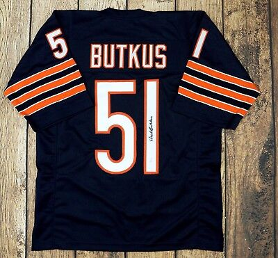 2c3b6e692d5 Dick Butkus Autographed Custom Pro Style Blue Jersey Jsa W Authenticated