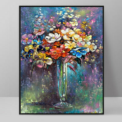 Modern Art Oil Painting Home Decor Flowers Wall Picture Print On Canvas No Frame